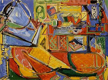 Still Life with Book - Hans Hofmann reproduction oil painting