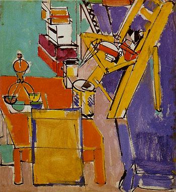 The Artist Version II 1942 - Hans Hofmann reproduction oil painting