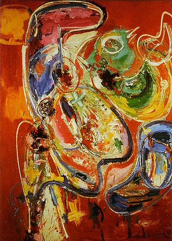 Bacchanale - Hans Hofmann reproduction oil painting