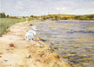 Beach Scene Morning at Canoe Place c1896 - William Merrit Chase reproduction oil painting