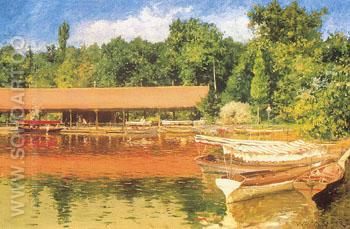 Boat House Prospect Park c 1887 - William Merrit Chase reproduction oil painting