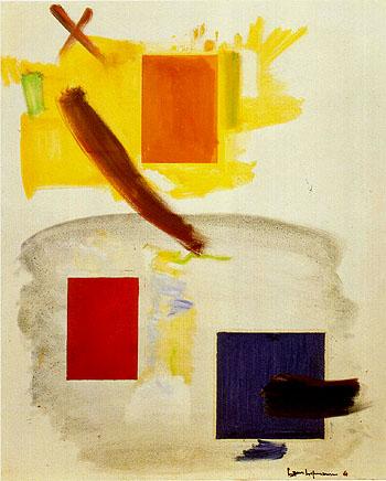 Passing the Zenith 1961 - Hans Hofmann reproduction oil painting