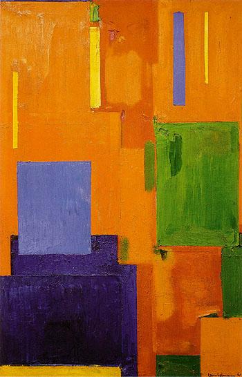 Leise zieht durch mein Gemuht liebliches Gelaute - Hans Hofmann reproduction oil painting