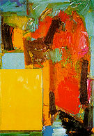 Smaragd Red and Germinating Yellow 1959 - Hans Hofmann reproduction oil painting