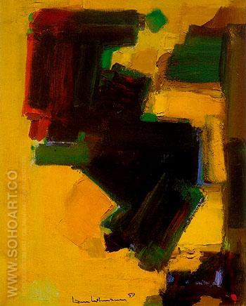 Orbiting Shapes 1959 - Hans Hofmann reproduction oil painting