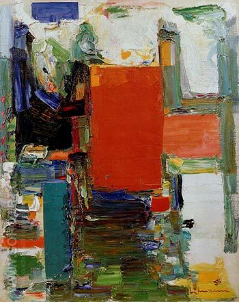 Bird Cage Variation II 1958 - Hans Hofmann reproduction oil painting