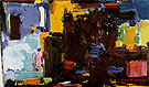Early Dawn 1957 - Hans Hofmann reproduction oil painting