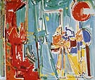 The Artist and His Model II 1955 - Hans Hofmann reproduction oil painting