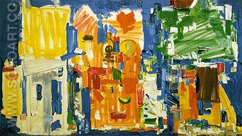 Studio No 2 in Blue 1954 - Hans Hofmann reproduction oil painting
