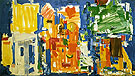 Studio No 2 in Blue 1954 - Hans Hofmann reproduction oil painting