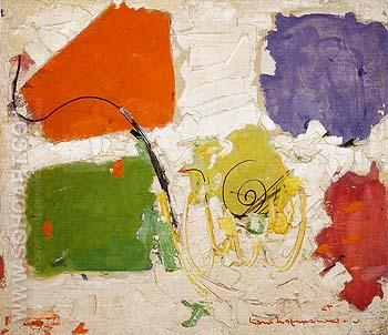 Black Spiral 1954 - Hans Hofmann reproduction oil painting