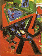 Red Flight 1953 - Hans Hofmann reproduction oil painting