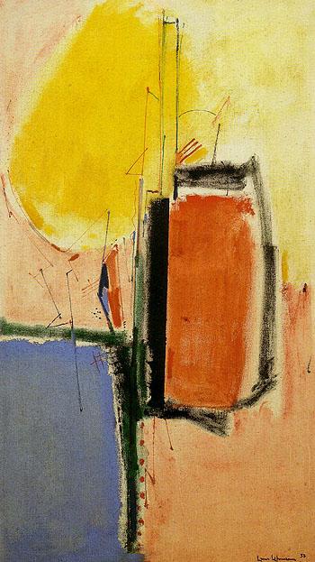 Composition No 1 1953 - Hans Hofmann reproduction oil painting