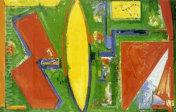 Composition 1953 II 1953 - Hans Hofmann reproduction oil painting