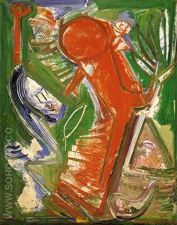 Acension 1952 - Hans Hofmann reproduction oil painting