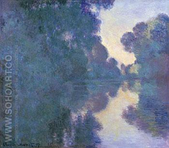 Morning on the Seine near Giverny 1897 - Claude Monet reproduction oil painting