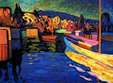 Autumn Landscape with Boats 1908 - Wassily Kandinsky