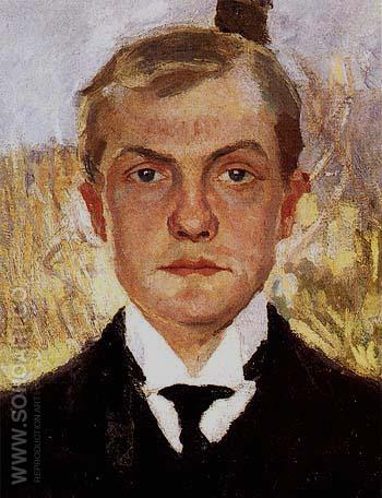 Self Portrait in Florence - Max Beckmann reproduction oil painting