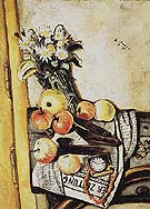 Still Life with Marguerites 1921 - Max Beckmann reproduction oil painting