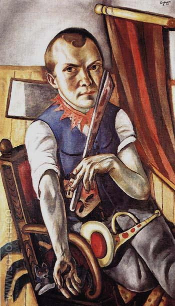 Self Portrait as Clown 1921 - Max Beckmann reproduction oil painting