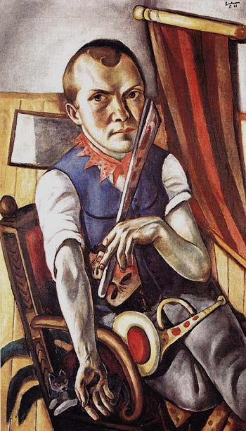 Self Portrait as Clown 1921 - Max Beckmann reproduction oil painting