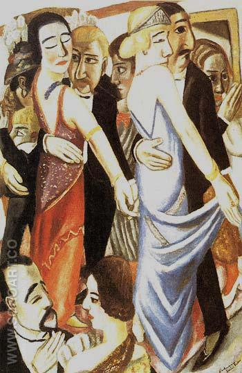 Before the Masquerade Ball 1922 - Max Beckmann reproduction oil painting