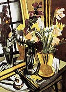 Self Portrait of Flowers with Mirror 1927 - Max Beckmann reproduction oil painting