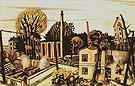 Landscape near Frankfurt am Main 1922 - Max Beckmann reproduction oil painting