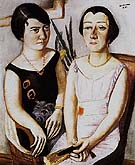 Doebel Portait of Frau Swarzenski and Carola Netter 1923 - Max Beckmann reproduction oil painting