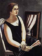 Portrait of Minna Beckmann Tube 1924 - Max Beckmann reproduction oil painting