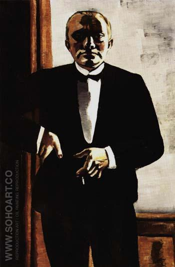 Self Portrait in Tuxedo - Max Beckmann reproduction oil painting