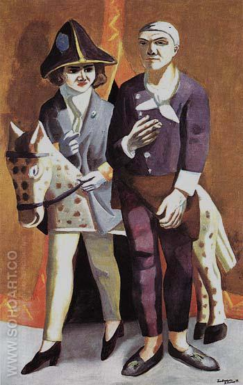 Carnival Double Portrait Max Beckmann and Quappi 1925 - Max Beckmann reproduction oil painting