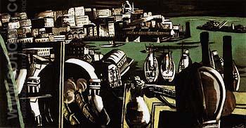 The Harbour of Genoa 1927 - Max Beckmann reproduction oil painting