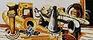 Large Still Life with Musical Instruments 1926 - Max Beckmann reproduction oil painting
