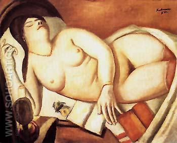 Sleeping Woman 1924 - Max Beckmann reproduction oil painting