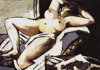 Reclining Nude 1929 - Max Beckmann reproduction oil painting
