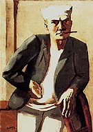 Self Portrait in a White Cap 1926 - Max Beckmann reproduction oil painting