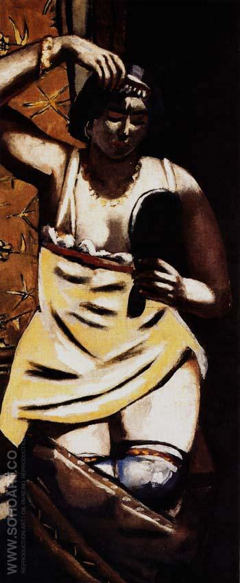 Gypsy Woman 1928 - Max Beckmann reproduction oil painting