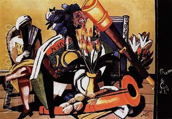 Large Still Life with Telescope 1927 - Max Beckmann reproduction oil painting