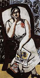 Portrait of Minna Beckmann Tube 1930 - Max Beckmann reproduction oil painting
