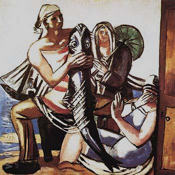 The Catfish 1929 - Max Beckmann reproduction oil painting