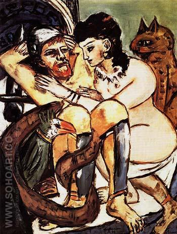 Odysscus and the Calypso 1943 - Max Beckmann reproduction oil painting