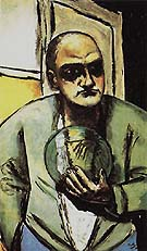 Self Portrait with Crystal Ball 1936 - Max Beckmann reproduction oil painting