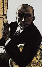 Self Portrait in Black 1944 - Max Beckmann reproduction oil painting
