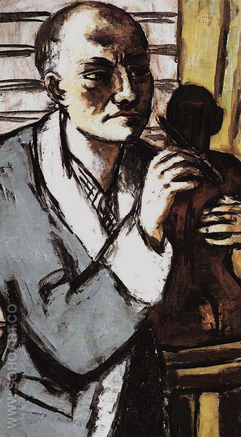Self Portrait in Grey Robe 1941 - Max Beckmann reproduction oil painting