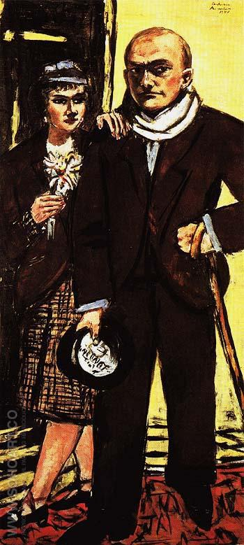Double Portrait of Max and Quappi Beck Mann 1941 - Max Beckmann reproduction oil painting