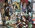 Dream of Monte Carlo - Max Beckmann reproduction oil painting