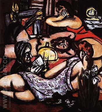 Girls Room Siesta 1947 - Max Beckmann reproduction oil painting