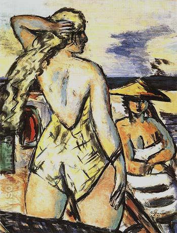 Girl by the Sea 1938 - Max Beckmann reproduction oil painting