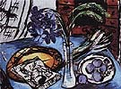 Still Life with Blue Orchids 1938 - Max Beckmann reproduction oil painting